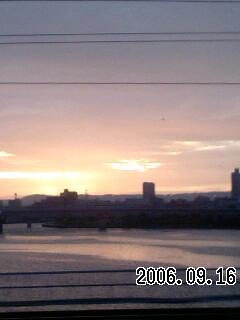060916-2 朝焼けは雨?