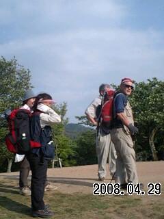 三笠山です→080429 両手にあんパン