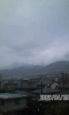 090425 今日は雨