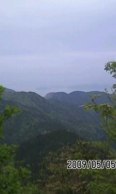 090505 花脊峠から石楠花尾根