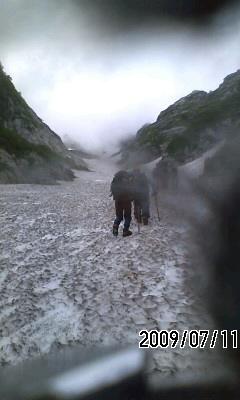 090711 長次郎雪渓から剣岳登頂