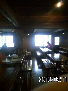 100811 西穂高山荘 到着15時20分