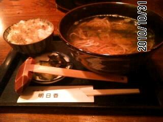101031 にしん蕎麦とじゃこ飯