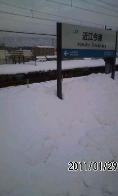 110129 ホームも大雪