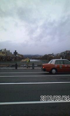 120226 今日の京都は曇り空