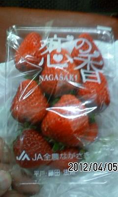 120405 イチゴとしゃぶしゃぶ