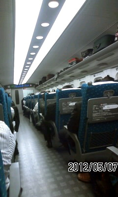 120507 新幹線は満員