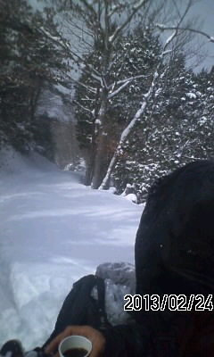 130224 狼峠から魚谷山の下見完了