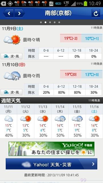 131109 明日は雨?