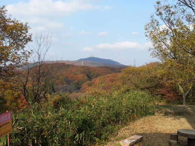 131124 生駒山から高安山