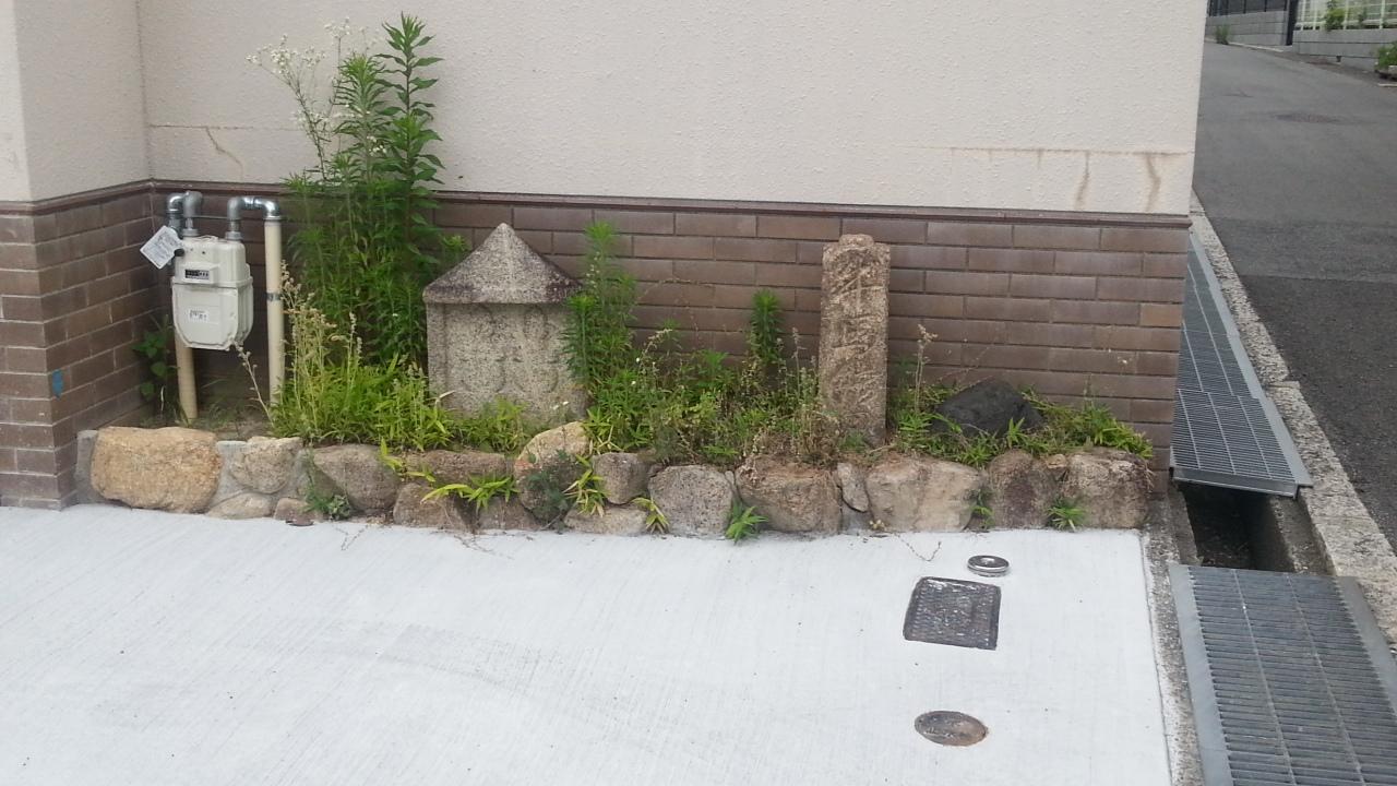 150608 弓弦羽神社参道の道標2