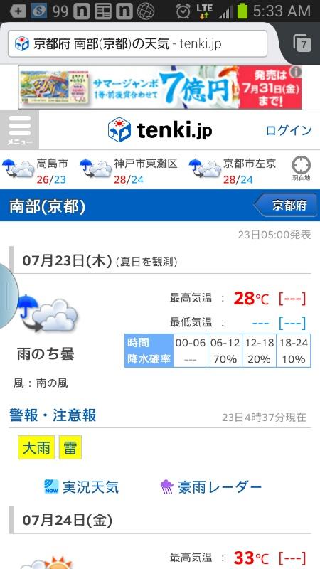 150723 今日は雨模様