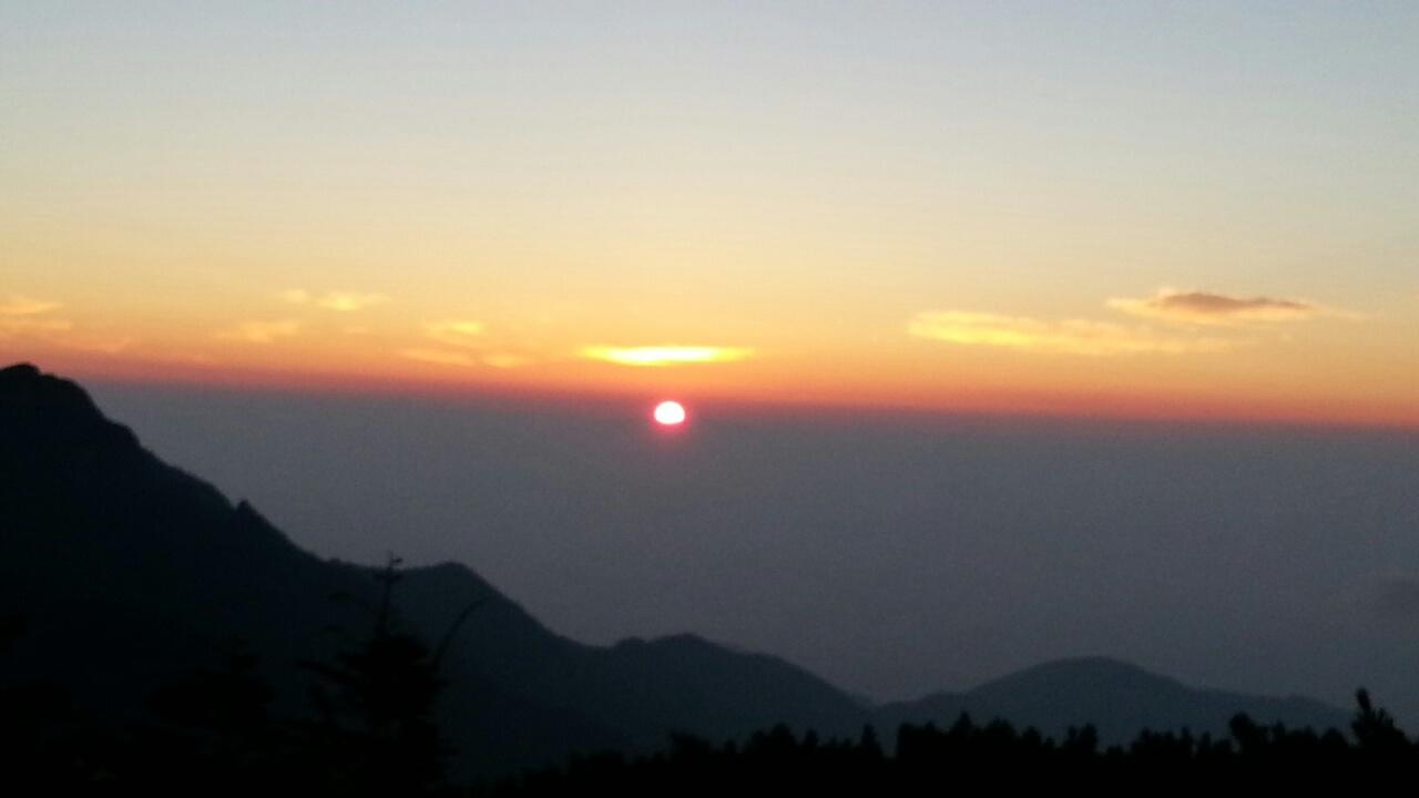150807 常念岳の日の出
