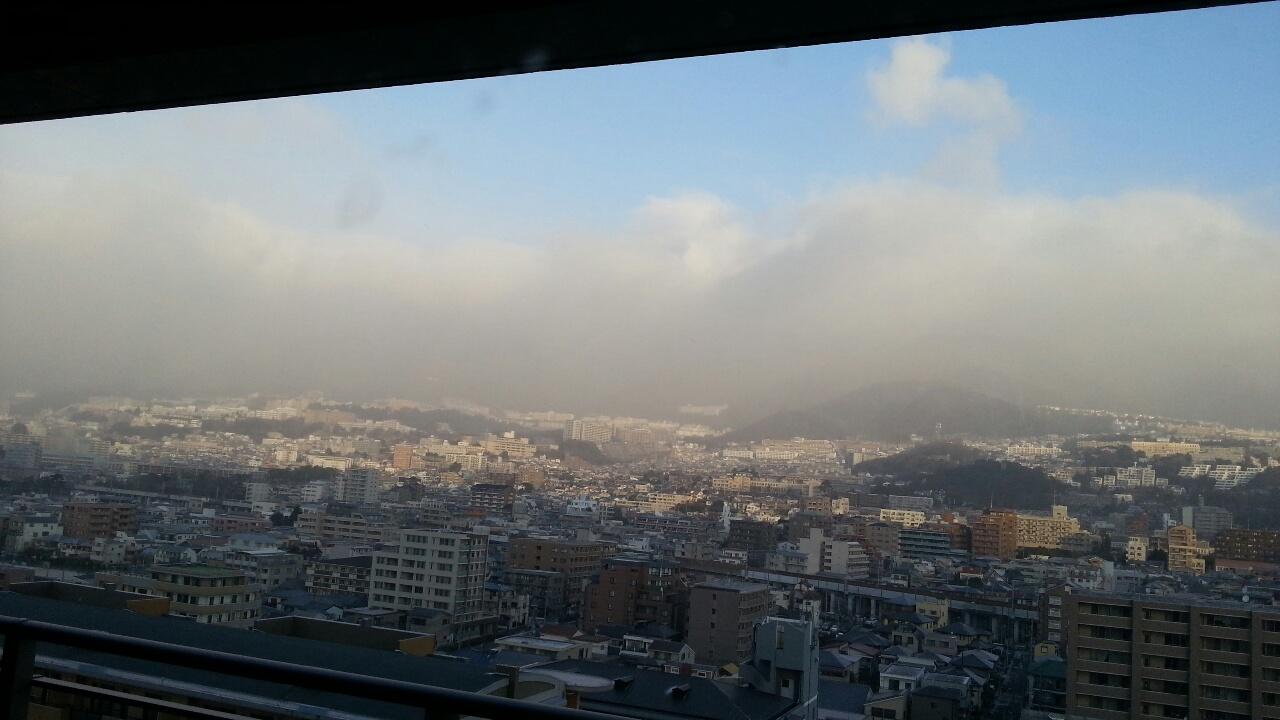 160120 六甲山は雪