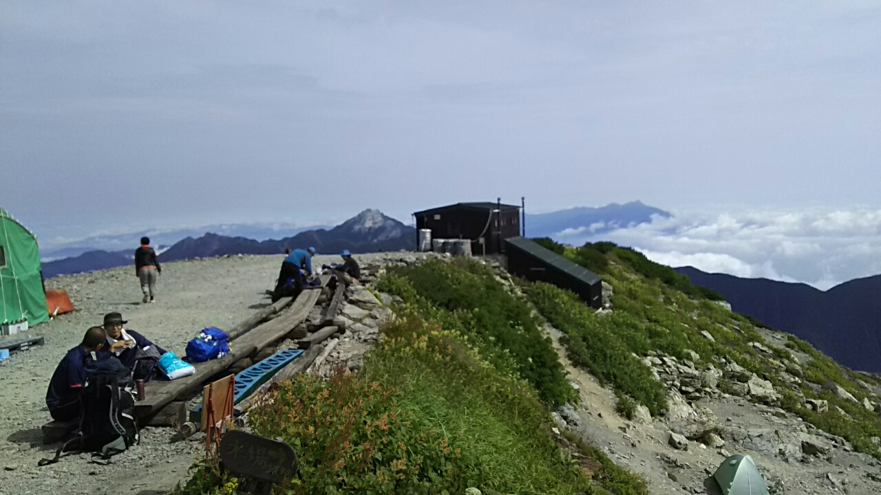 160811 北岳を越えて北岳山荘へ
