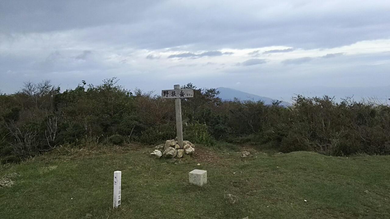 161009 野坂岳から三国山の下見完了