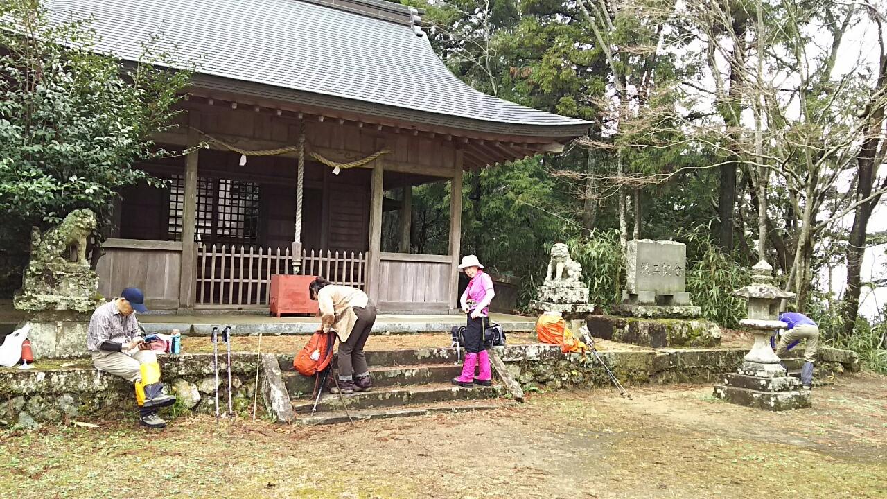 170409 丹生山から稚児ヶ墓山の下見完了