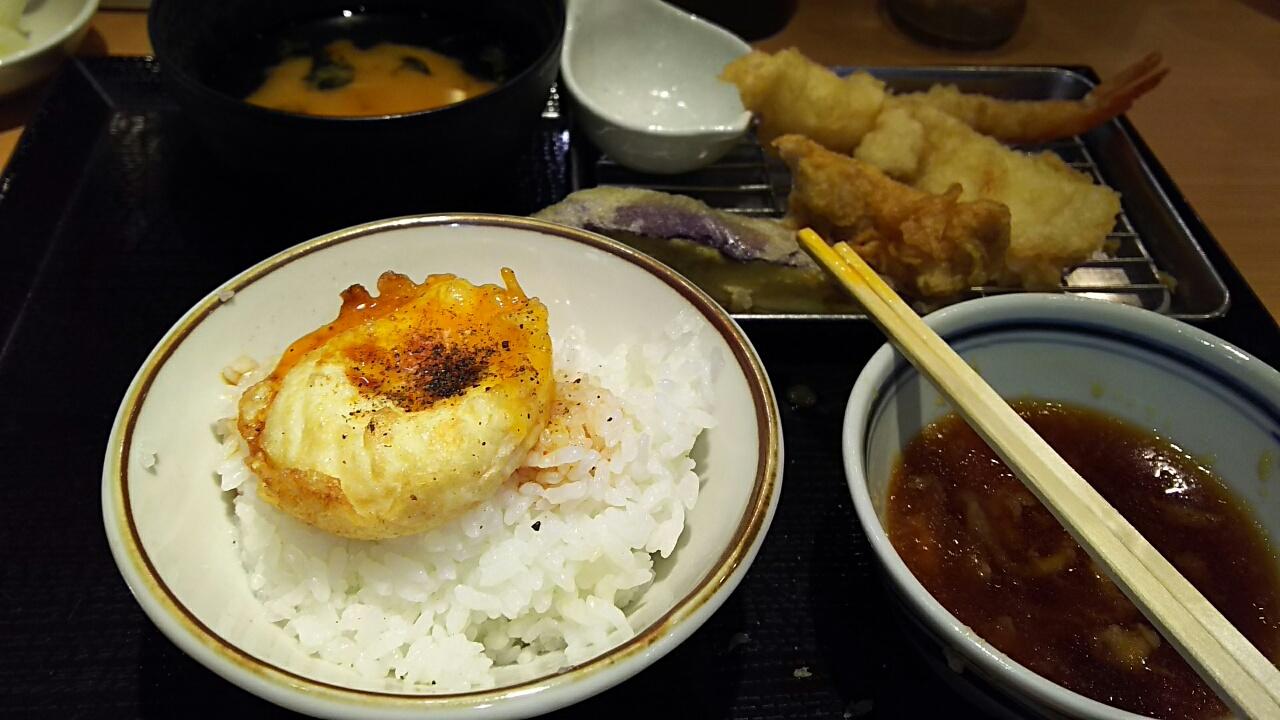 170827 昼は天ぷら定食