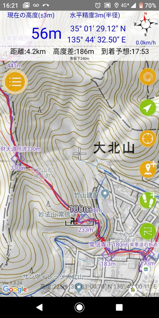 190211 左大文字から鷹ヶ峯三山の例会無事完了